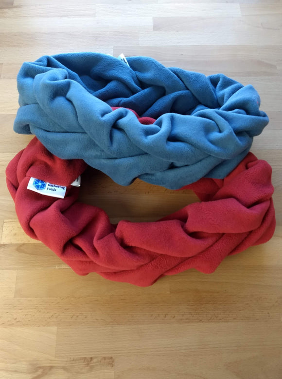Double Ring Single-Color Scarf