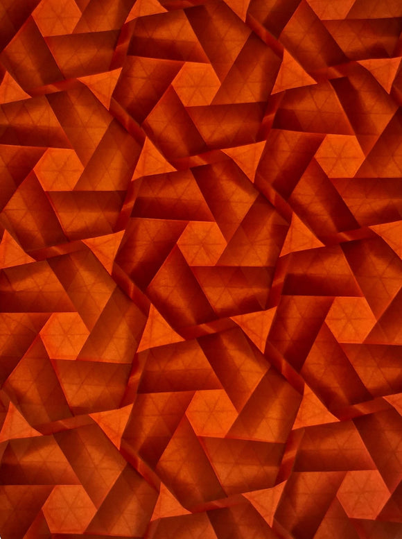 Dense Compound Hexagons origami tessellation crease pattern