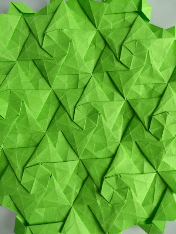 Open Triangle Stars origami tessellation crease pattern