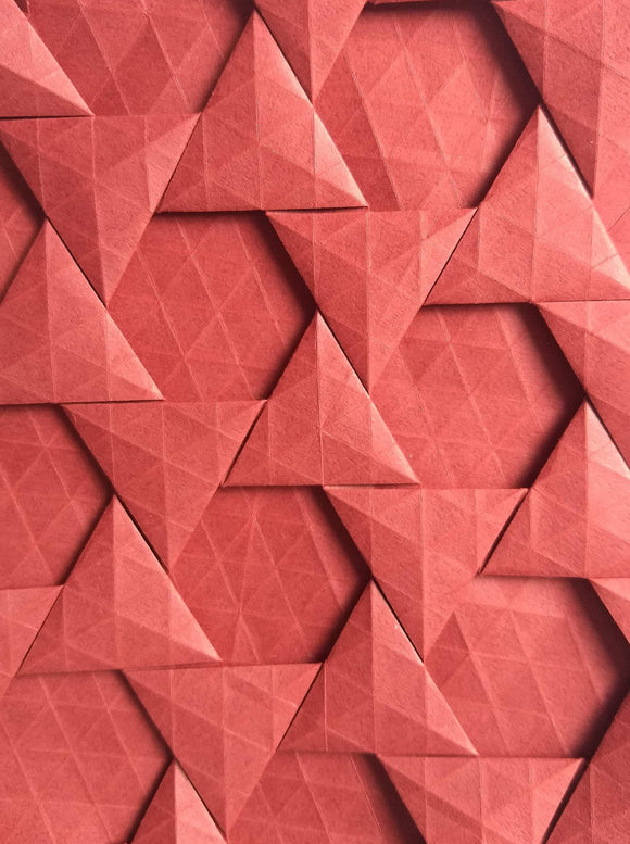 Half-adjacent Triangles origami tessellation crease pattern