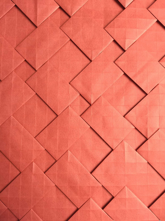 Rotational Semi-adjacent Rectangles origami tessellation crease pattern
