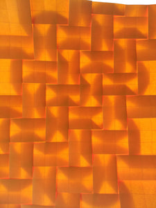 Herringbone Weave origami tessellation crease pattern