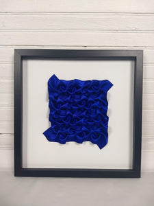 Royal Blue Dense Arrow Rings, framed in black