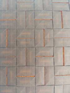 Closed Parquet origami tessellation crease pattern