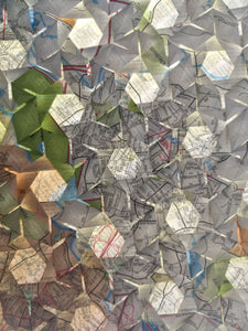 Lens Stars origami tessellation crease pattern