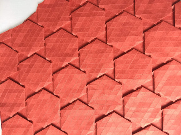 Half-adjacent Hexagons origami tessellation crease pattern