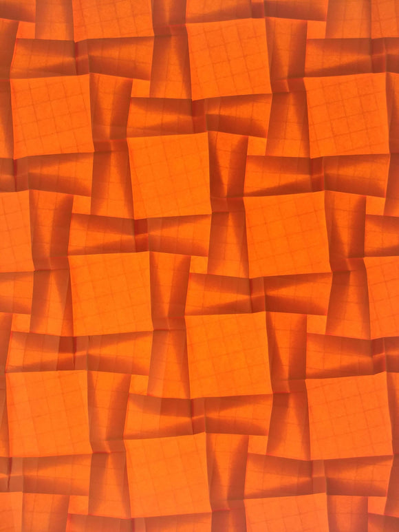 Rotated Compound Squares origami tessellation crease pattern