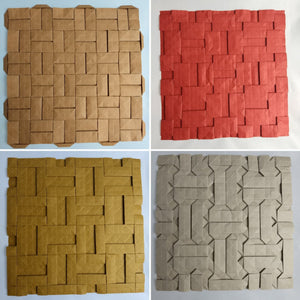 Parquet family origami tessellation 4-pack