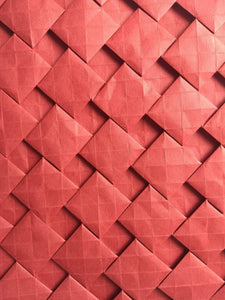 Open Half-adjacent Squares origami tessellation crease pattern