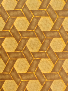 Double Rhombus Weave origami tessellation crease pattern