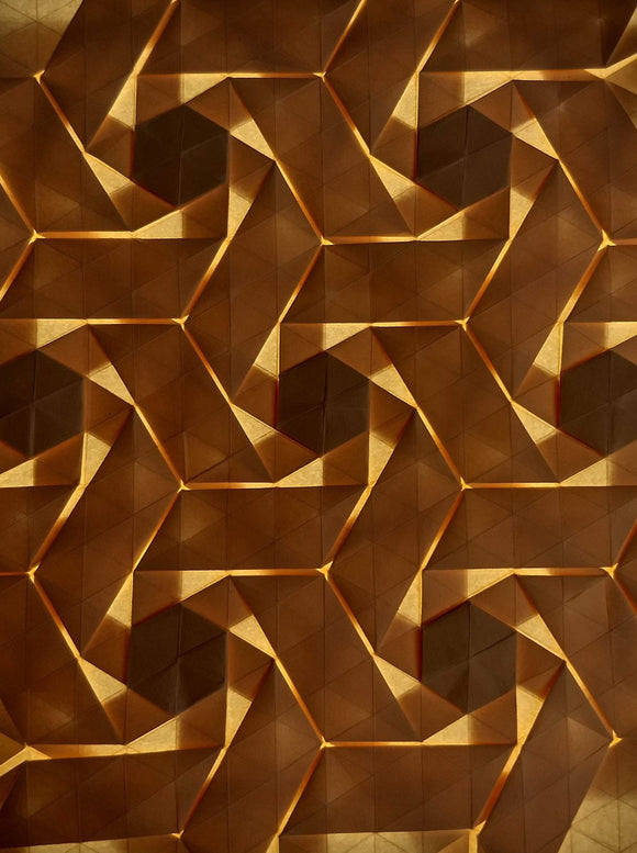Double Rhombus Swirls origami tessellation crease pattern