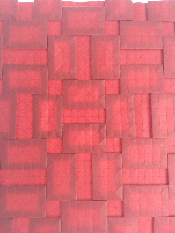 Semi-Adjacent Parquet origami tessellation crease pattern