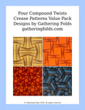 Compound Twists origami tessellation 4-pack