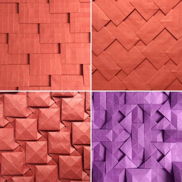 Semi-adjacent tilings series tessellation 4-pack