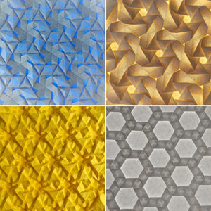 Triangle grid tessellation variety 4-pack