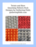 Twists smocking patterns pack