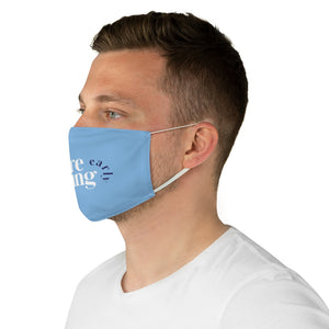We're Leaving Earl Blue Fabric Face Mask