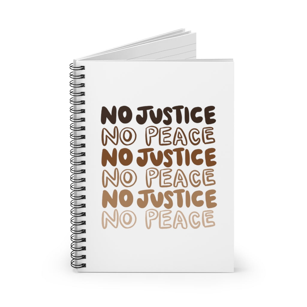 No Justice Spiral Notebook