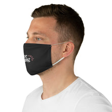 Load image into Gallery viewer, We're Leaving Early Black Fabric Face Mask