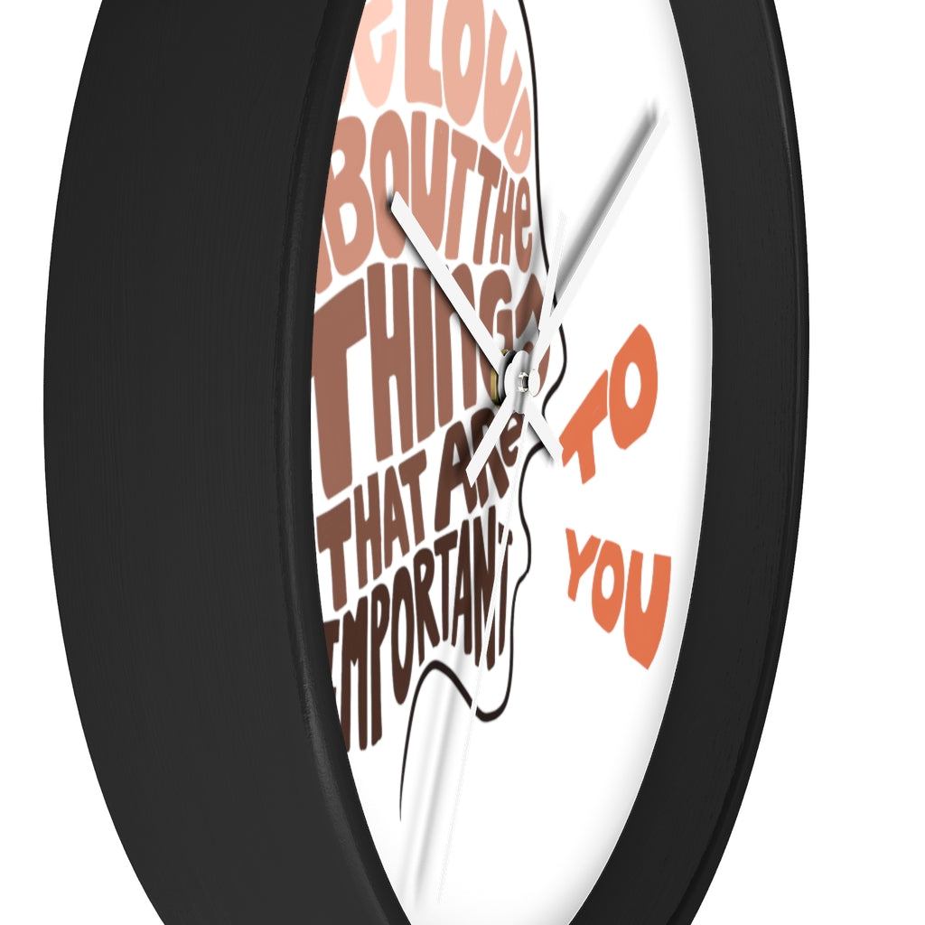 Be Loud Wall clock