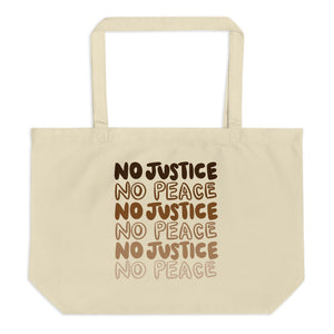 No Justice Large Eco-Friendly Tote