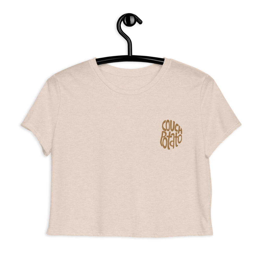 Couch Potato Crop Tee