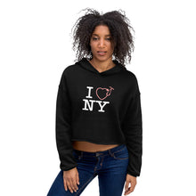 Load image into Gallery viewer, I Love NY Pink Crop Hoodie