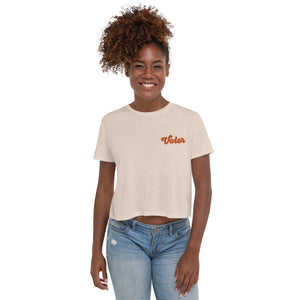 Voter Embroidered Crop Tee