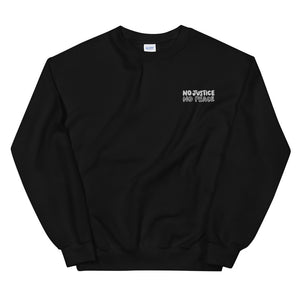 No Justice Embroidered Unisex Sweatshirt