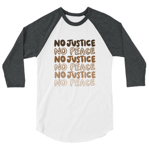 No Justice Quarter Sleeve Shirt