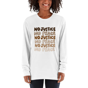 No Justice Long Sleeve American Apparel Shirt