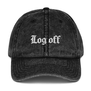 Log Off Vintage Cap