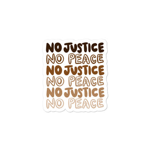 No Justice Stickers