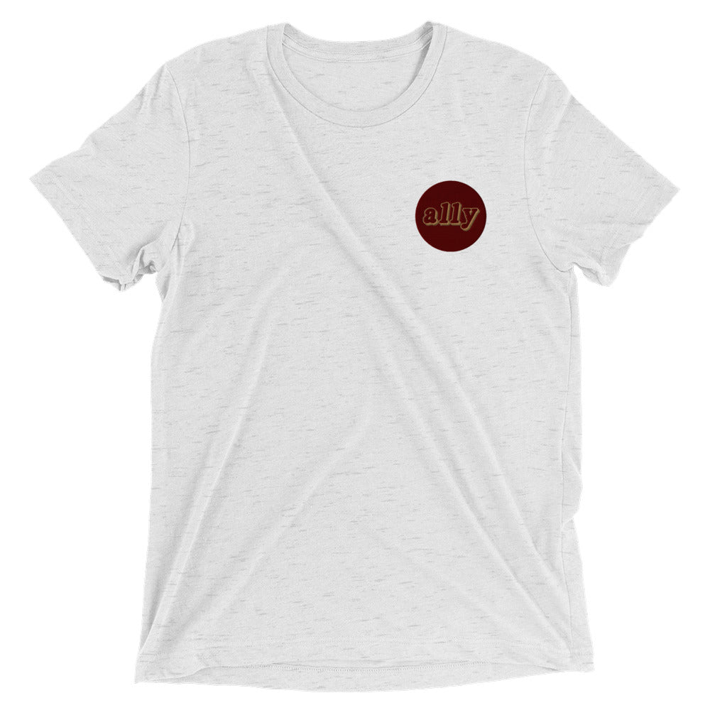 Stand Embroidered Tri-Blend T-Shirt