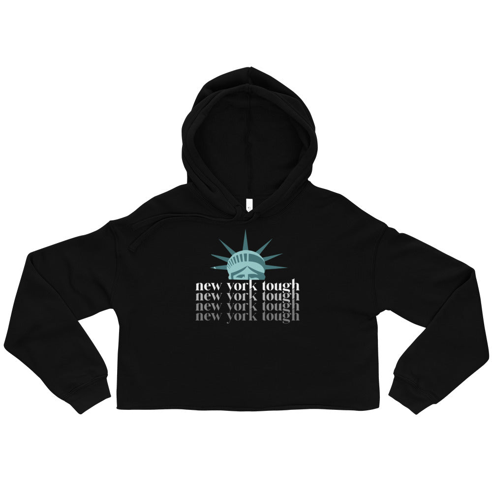 New York Tough Crop Hoodie