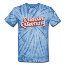 Load image into Gallery viewer, Queen Unisex Tie Dye T-Shirt - spider baby blue