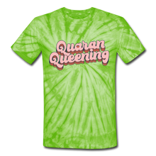 Load image into Gallery viewer, Queen Unisex Tie Dye T-Shirt - spider lime green