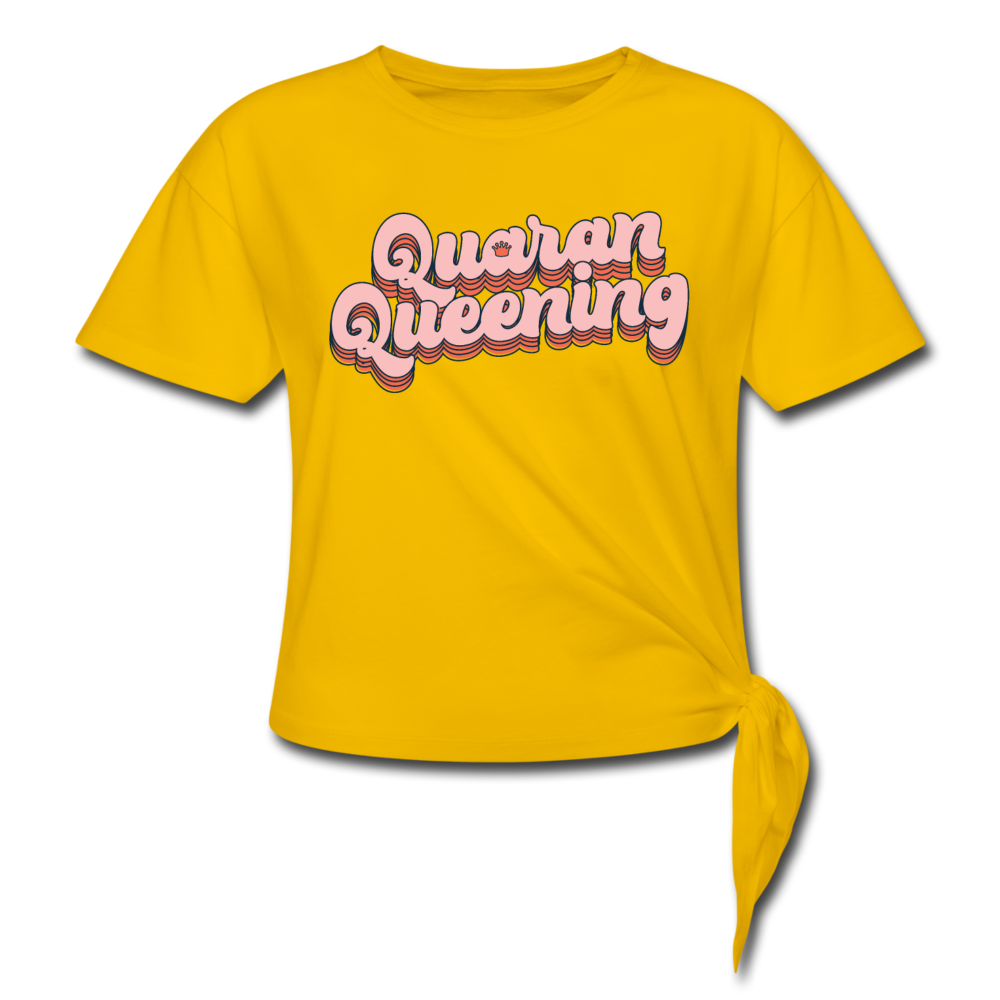 Queen Knotted T-Shirt - sun yellow