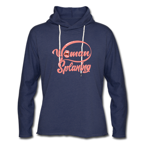 Womansplaining Unisex Lightweight Terry Hoodie - heather navy