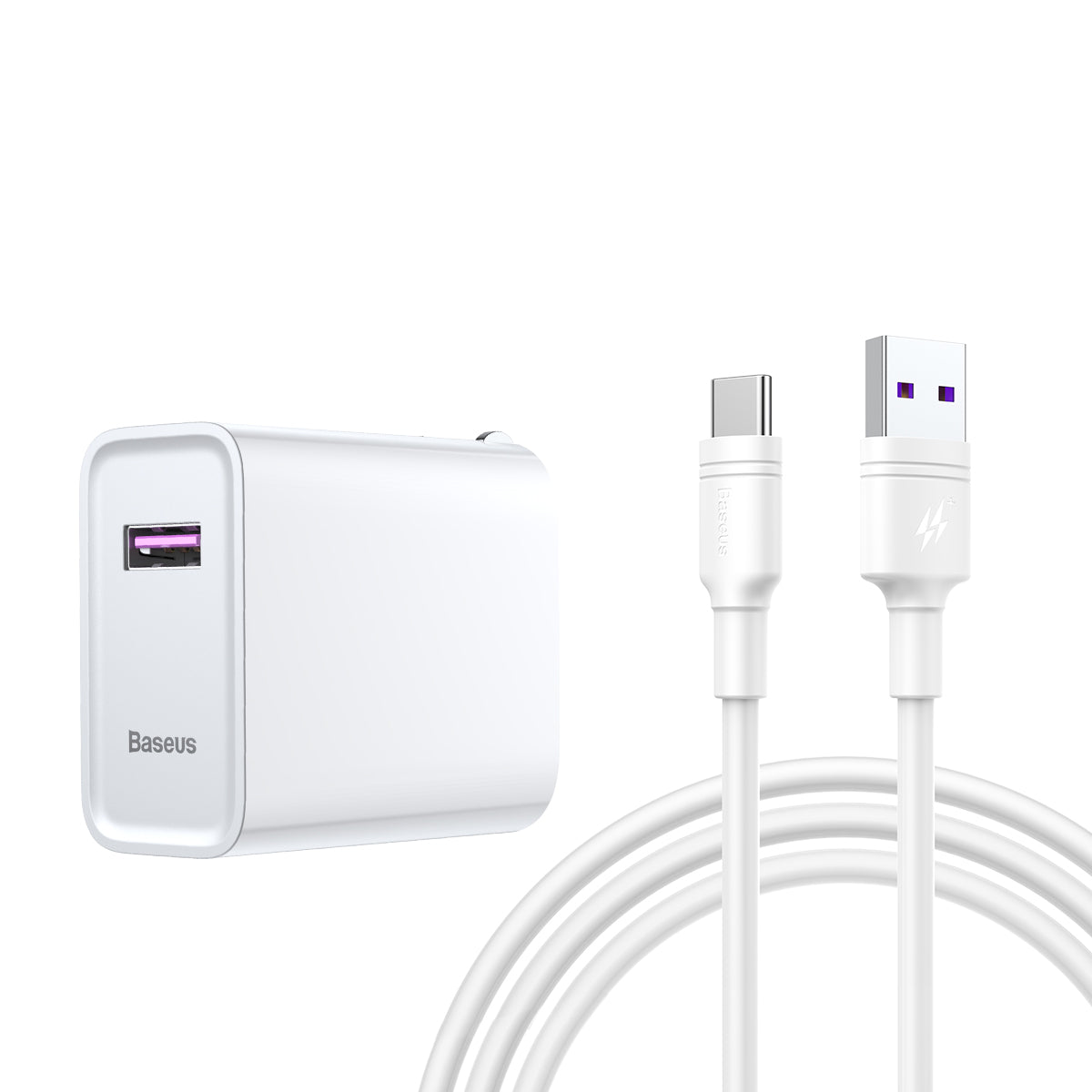 BASEUS Speed Huawei 22.5W Super Charging Adapter with USB to USB-C Cable (1 m)