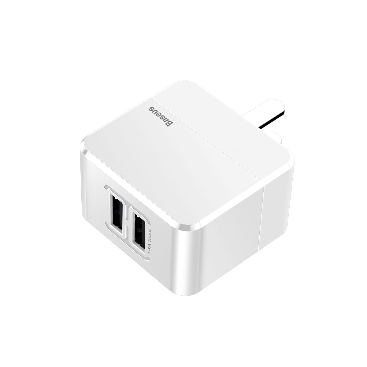BASEUS Mini Square Dual USB-A Wall Charger (17W)