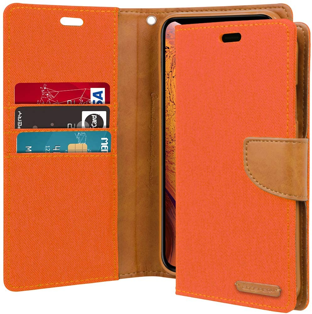 GOOSPERY Canvas Diary Wallet Case for iPhone XS / X