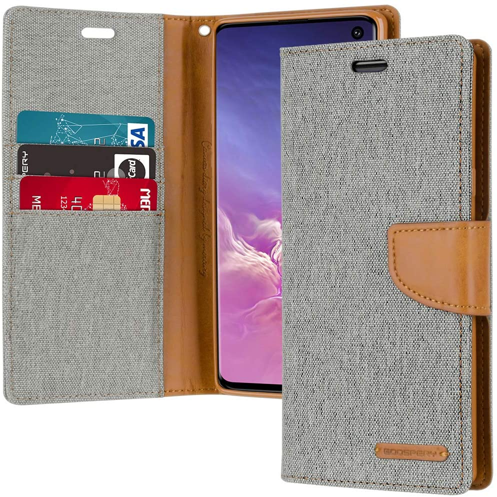 GOOSPERY Canvas Diary Wallet Case for Samsung Galaxy S10+