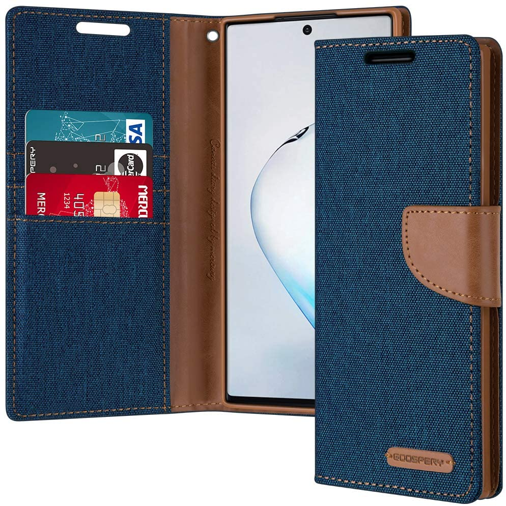 GOOSPERY Canvas Diary Wallet Case for Samsung Galaxy Note 10