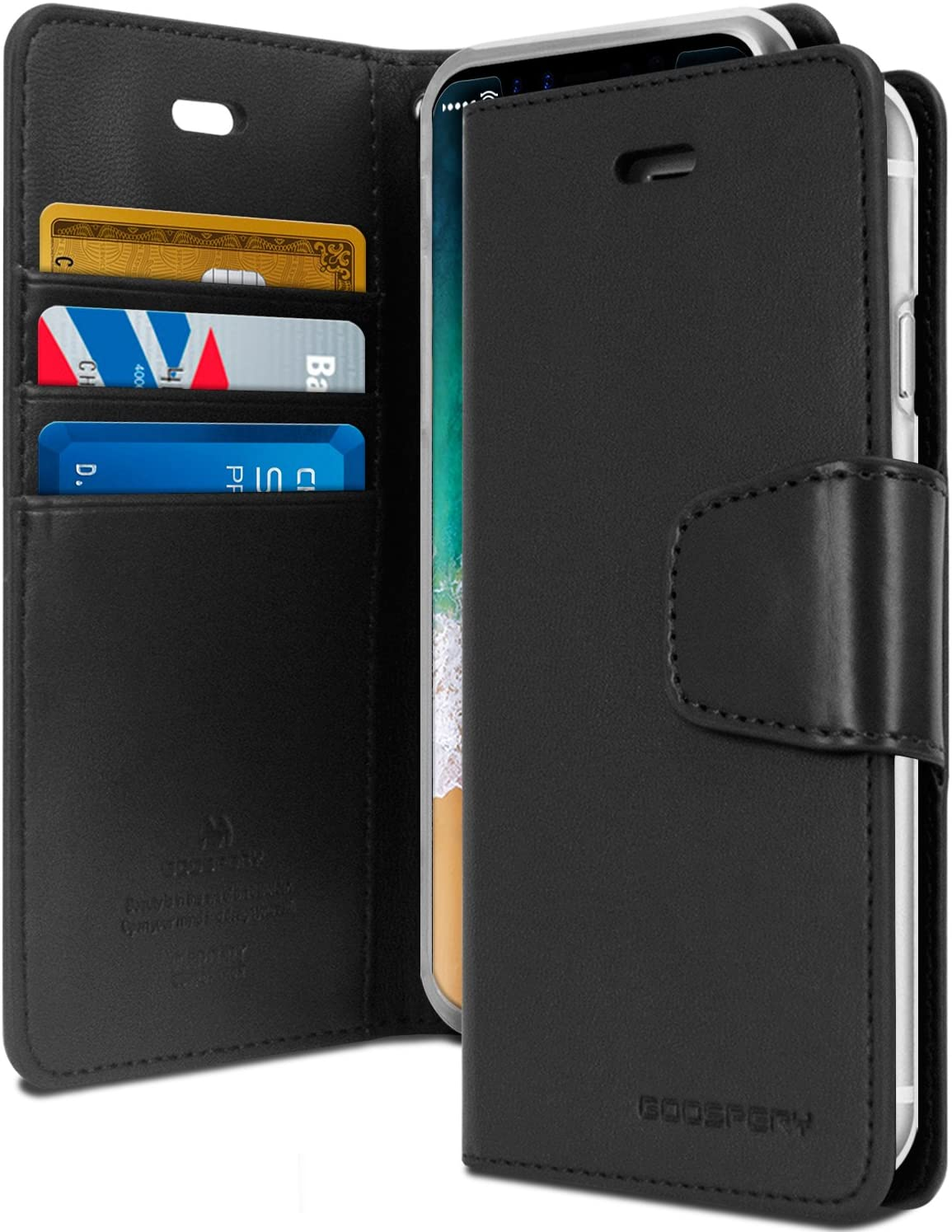 GOOSPERY Sonata Diary Wallet Case for iPhone XS Max / XR
