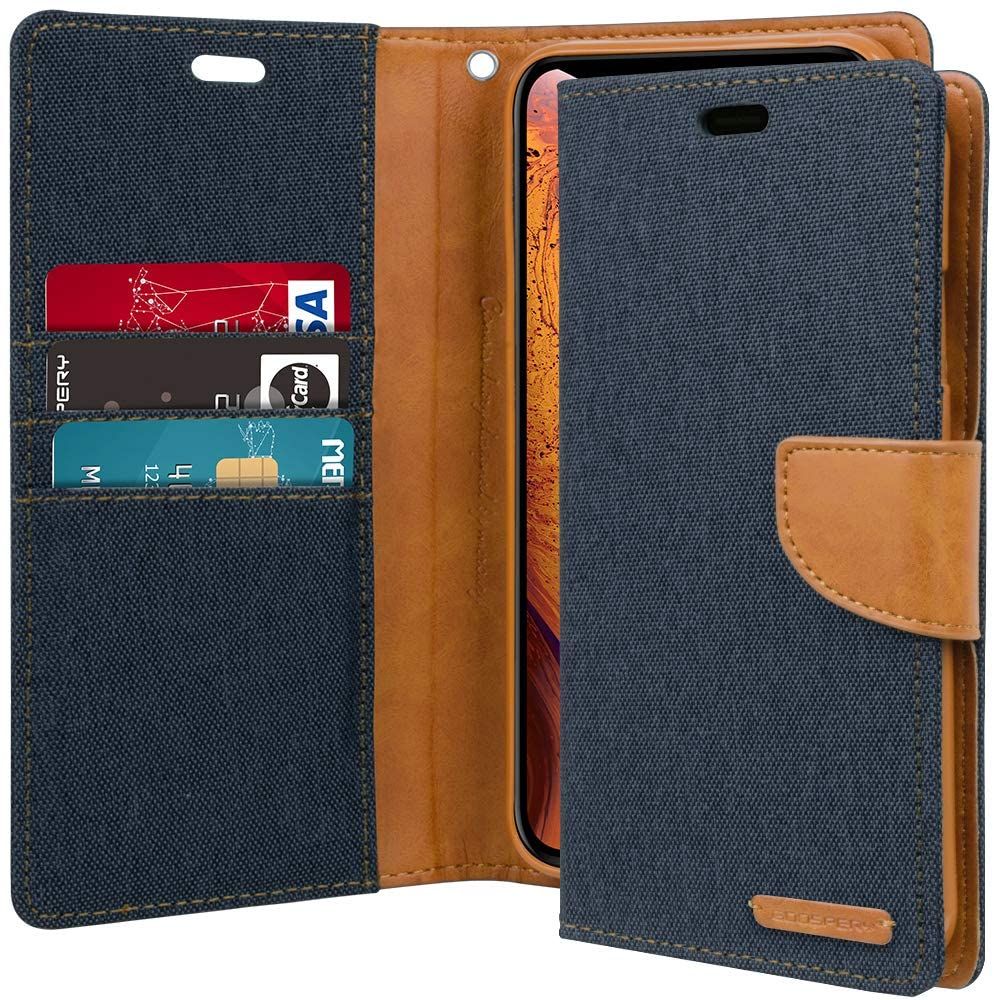 GOOSPERY Canvas Diary Wallet Case for iPhone XS Max / XR