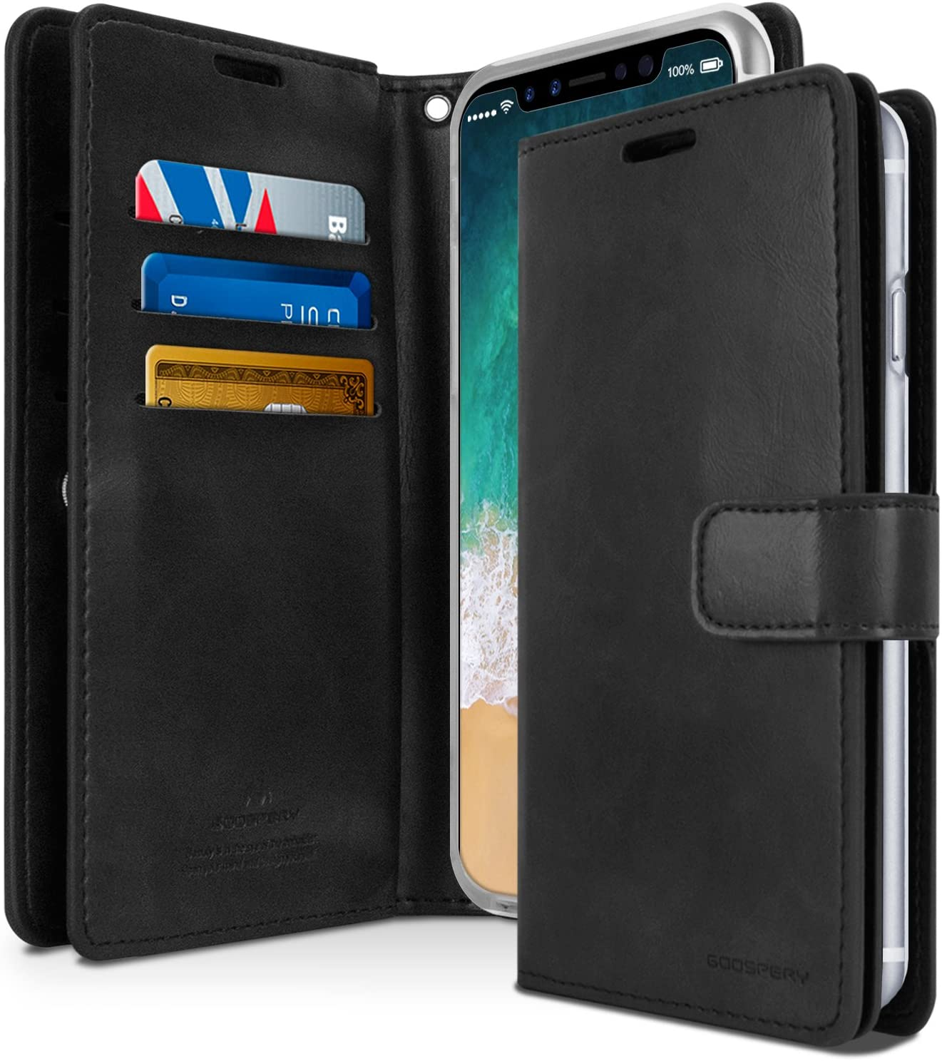 GOOSPERY Mansoor Wallet Diary Case for iPhone XS Max / XR