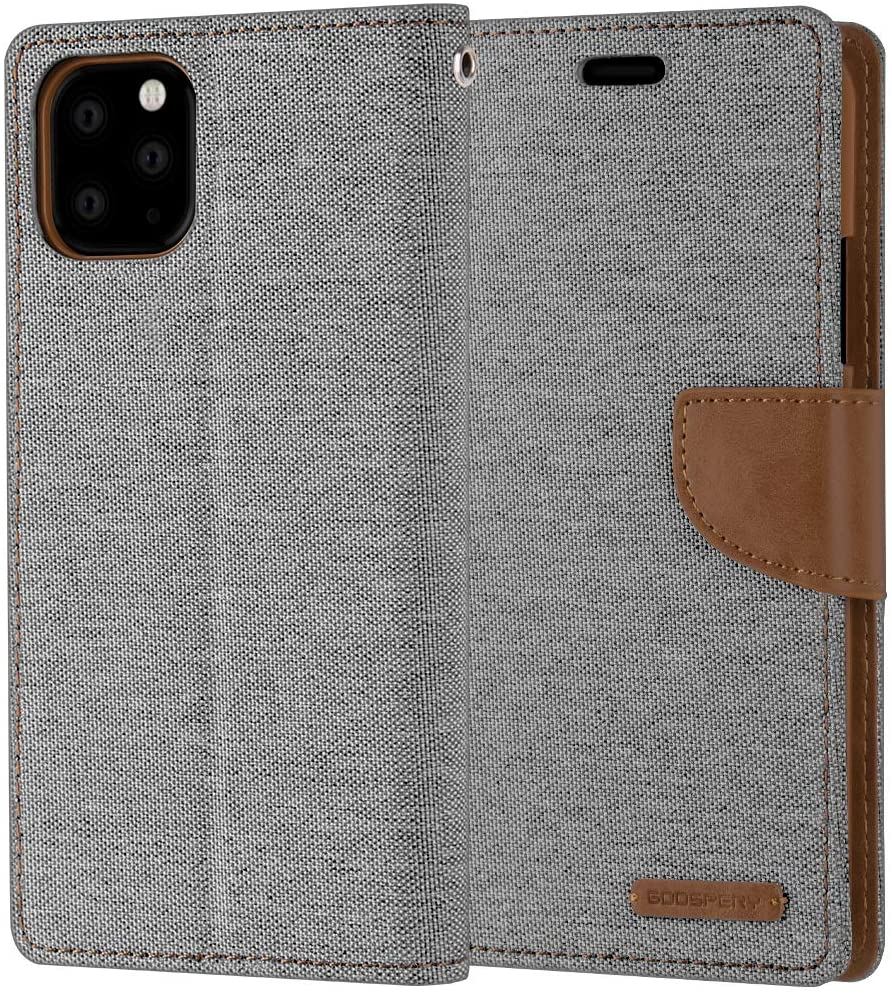 GOOSPERY Canvas Diary Wallet Case for iPhone 11 Pro Max / 11 Pro / 11