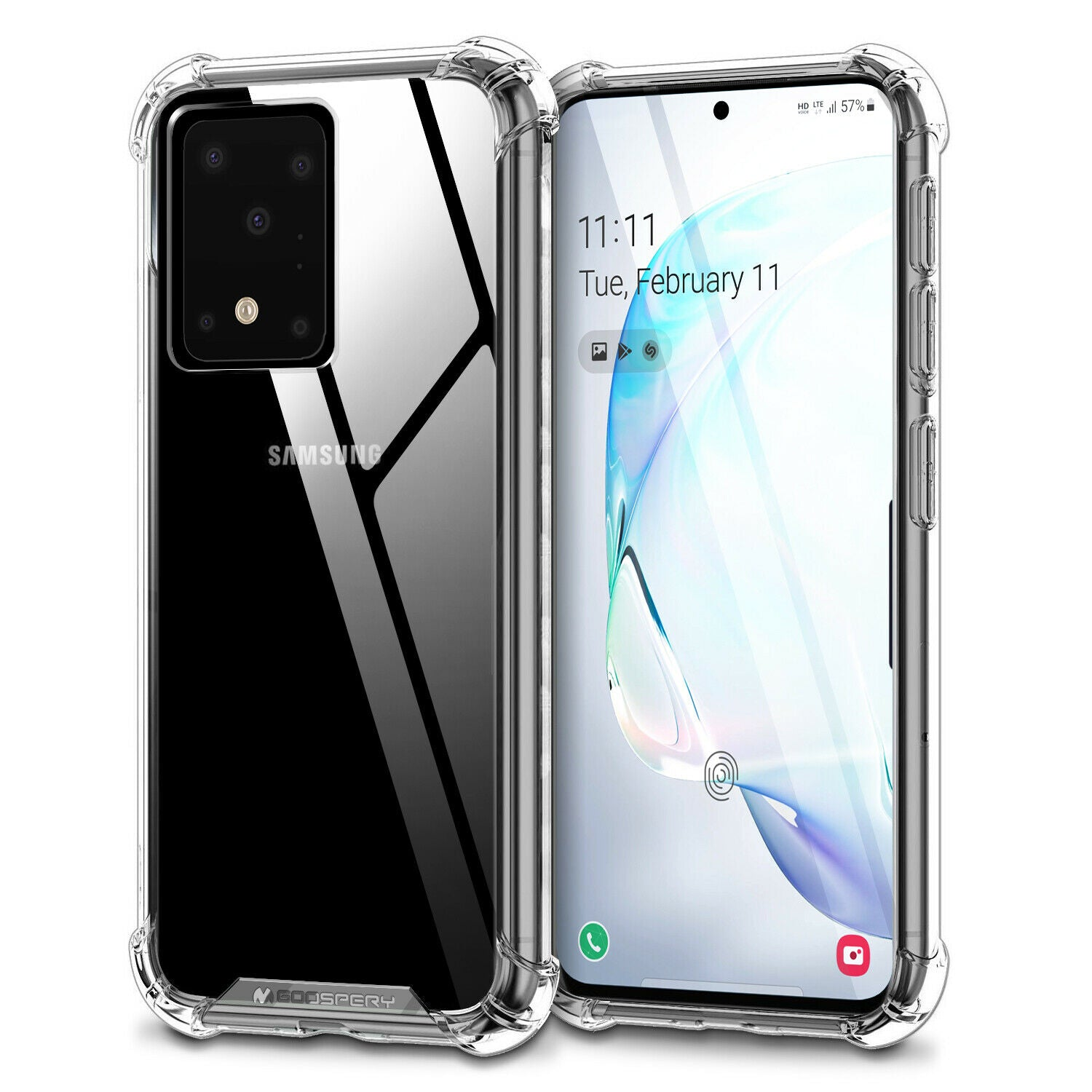 GOOSPERY Super Protect Clear Case for Samsung S20 Plus / S20