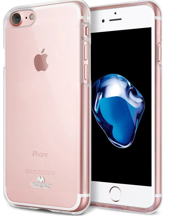 GOOSPERY Mercury Clear Pearl Jelly Case for iPhone SE 2020 / 8 / 7